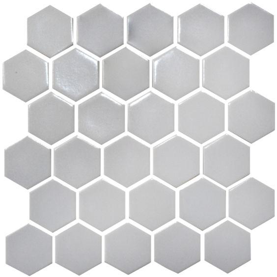 H 6019 Hexagon Silver мозаїка 295×295 мм, Котто Кераміка