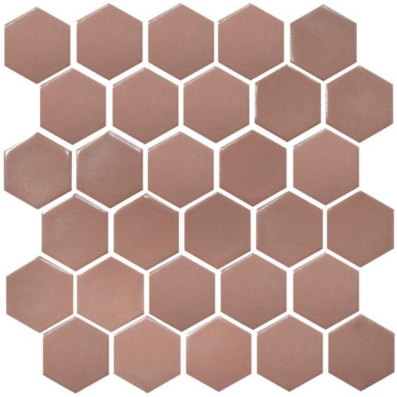 H 6011 Hexagon Hot Pink мозаїка 295×295 мм, Котто Кераміка