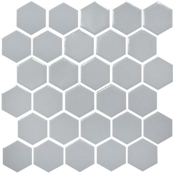 H 6002 Hexagon Grey Silver мозаїка 295×295 мм, Котто Кераміка