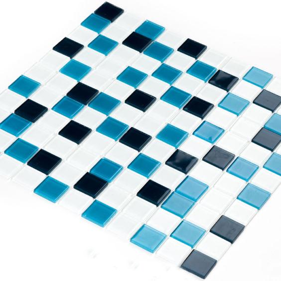 GM 4021 C3 Cerulean d-Cerulean m-White мозаїка 300×300 мм, Котто Кераміка