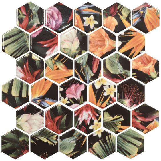 HP 6018 Hexagon мозаїка 295×295 мм, Котто Кераміка