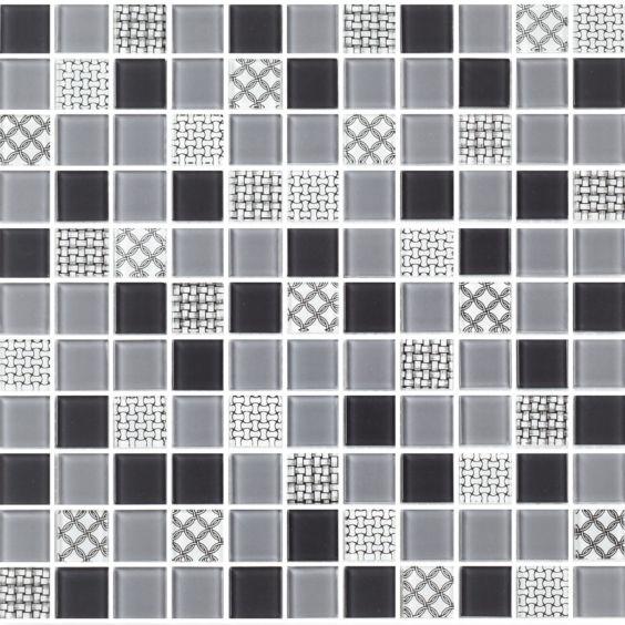 GM 4053 C3 Gray m-Gray w-Structure мозаїка 300×300 мм, Котто Кераміка