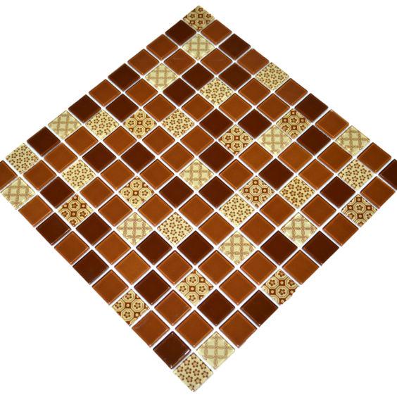 GM 4054 C3 Brown d-Brown m-Structure мозаїка 300×300 мм, Котто Кераміка