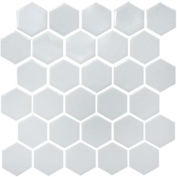 H 6001 Hexagon Flora Grey мозаїка 295×295 мм, Котто Кераміка