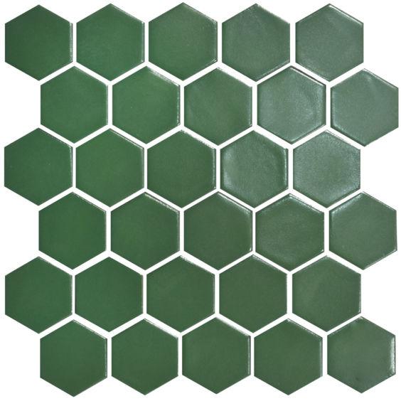 H 6010 Hexagon Forestgreen мозаїка 295×295 мм, Котто Кераміка