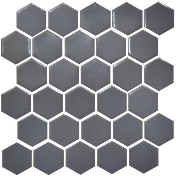 H 6003 Hexagon Grey Shedol мозаїка 295×295 мм, Котто Кераміка