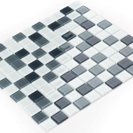 GM 4043 C3 Steel d-Steel m-White мозаїка 300×300 мм, Котто Кераміка